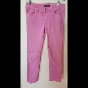 White House Black Market pink ankle pants